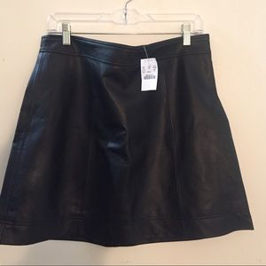 Black J Crew Faux Leather Skirt.